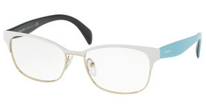 Prada PR 65RV VIC1O1 MATTE WHITE/PALE GOLD
