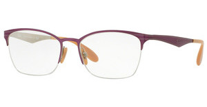 Ray-Ban RX6345 2864 TOP BRUSHED VIOLET ON SILVER