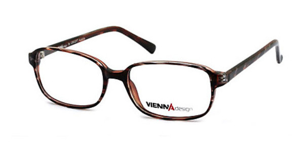 Vienna Design UN399 01 dark brown-dark orange pattern