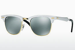 Saulesbrilles Ray-Ban CLUBMASTER ALUMINUM (RB3507 137/40) - Balta