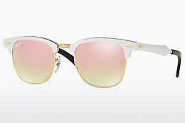 Saulesbrilles Ray-Ban CLUBMASTER ALUMINUM (RB3507 137/7O) - Balta