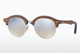 Saulesbrilles Ray-Ban Clubround Wood (RB4246M 12179U) - Sudraba