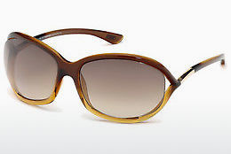 Saulesbrilles Tom Ford Jennifer (FT0008 50F) - Brūna, Dark