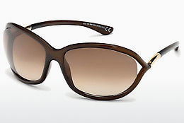 Saulesbrilles Tom Ford Jennifer (FT0008 692) - Brūna, Dark, Shiny