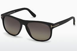 Saulesbrilles Tom Ford Olivier (FT0236 02D) - Melna, Matt