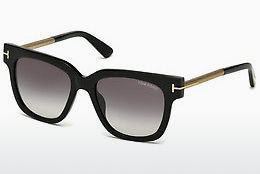 Saulesbrilles Tom Ford Tracy (FT0436 01B) - Melna, Shiny