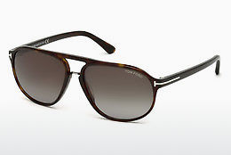 Saulesbrilles Tom Ford Jacob (FT0447 52B) - Brūna, Dark, Havana