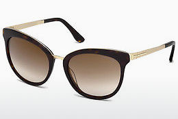Saulesbrilles Tom Ford Emma (FT0461 52G) - Brūna, Dark, Havana