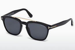 Saulesbrilles Tom Ford Holt (FT0516 01A) - Melna, Shiny