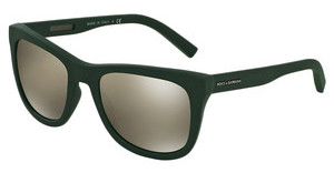 Dolce & Gabbana DG2145 12656G LIGHT BROWN MIRROR GOLDGREEN RUBBER