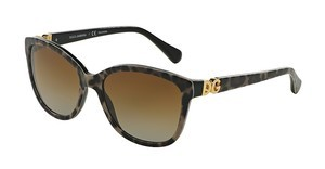 Dolce & Gabbana DG4258 1995T5 POLAR BROWN GRADIENTLEO ON BLACK
