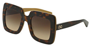 Dolce & Gabbana DG4263 295613 BROWN GRADIENTTOP HAVANA ON GOLD