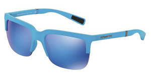Dolce & Gabbana DG6097 301525 GREEN MIRROR LIGHT BLUEAZURE RUBBER