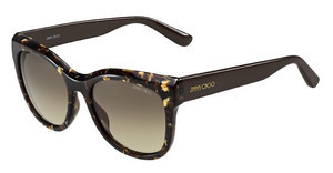 Jimmy Choo NURIA/S W03/6P BROWN FL GOLDBW SPTTD (BROWN FL GOLD)