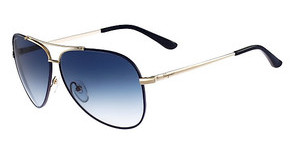 Salvatore Ferragamo SF131S 727 SHINY GOLD W-BLUE