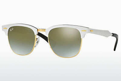 Saulesbrilles Ray-Ban CLUBMASTER ALUMINUM (RB3507 137/9J) - Balta