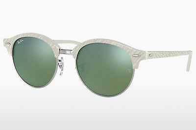 Saulesbrilles Ray-Ban Clubround (RB4246 988/2X) - Balta
