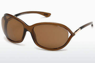 Saulesbrilles Tom Ford Jennifer (FT0008 48H) - Brūna, Dark, Shiny
