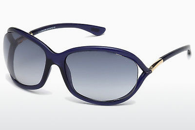Saulesbrilles Tom Ford Jennifer (FT0008 90W) - Zila, Shiny