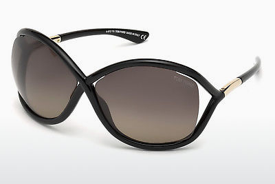 Saulesbrilles Tom Ford Whitney (FT0009 01D) - Melna, Shiny