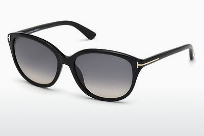 Saulesbrilles Tom Ford Karmen (FT0329 01B) - Melna, Shiny