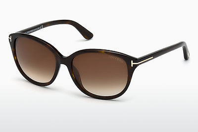 Saulesbrilles Tom Ford Karmen (FT0329 52F) - Brūna, Dark, Havana