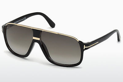 Saulesbrilles Tom Ford Eliott (FT0335 01P) - Melna, Shiny