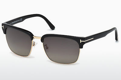 Saulesbrilles Tom Ford River (FT0367 01D) - Melna, Shiny