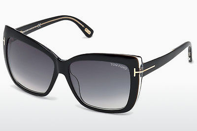 Saulesbrilles Tom Ford Irina (FT0390 01B) - Melna, Shiny