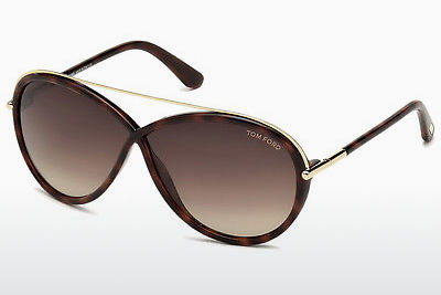 Saulesbrilles Tom Ford Tamara (FT0454 52K) - Brūna, Dark, Havana