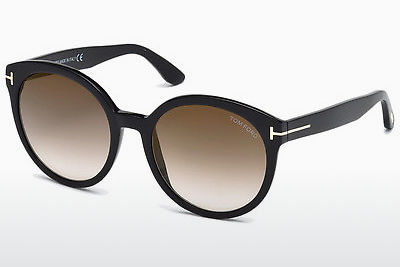 Saulesbrilles Tom Ford Philippa (FT0503 01G) - Melna, Shiny
