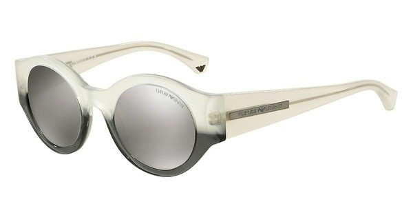Emporio Armani EA4044 53656G LIGHT GREY MIRROR SILVEROPAL WHITE GRADIENT BLACK