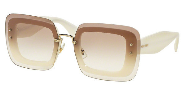 Miu Miu MU 02RS 7S31L0 CLEAR GRADIENT BROWNIVORY