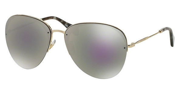 Miu Miu MU 53PS ZVN2E2 GREY MIRROR MILKY BLUEPALE GOLD