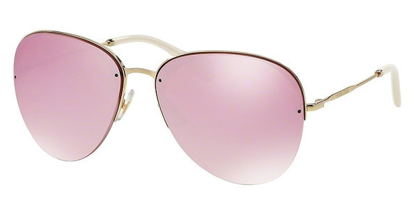 Miu Miu MU 53PS ZVN4L2 PINK MIRROR WHITEPALE GOLD