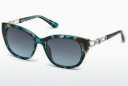 Saulesbrilles Guess GU7562 87W - Zila, Turquoise, Shiny