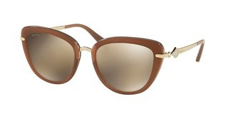 Bvlgari BV8193B 54315A LIGHT BROWN MIRROR GOLDTRY LAYER BEIGE