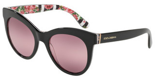 Dolce & Gabbana DG4311 3165W9 PINK BIGRADIENT PURPLEBLACK ON PRINT ROSE
